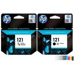 کارتریج جوهرافشان HP-121 مشکی و رنگی