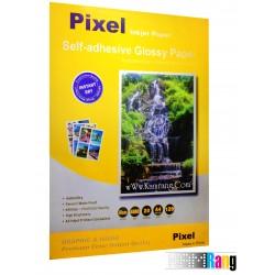 کاغذ گلاسه Pixel سایز A4 وزن 120 گرم پشت چسب دار