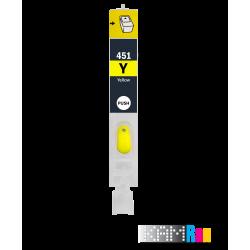 کارتریج قابل شارژ جوهرافشان کانن 450-451 رنگ زرد