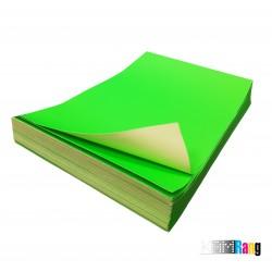 کاغذ مات سبز سایز A4 وزن 150 گرم 100 برگ پشت چسب دار