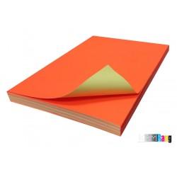 کاغذ مات قرمز سایز A4 وزن 150 گرم 100 برگ پشت چسب دار