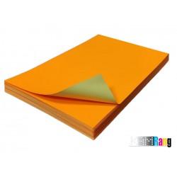کاغذ مات نارنجی سایز A4 وزن 150 گرم 100 برگ پشت چسب دار