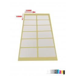 برچسب دور سفید 33*19میلی متر بسته ۱۰۰ برگی