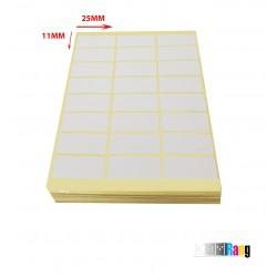 برچسب دور سفید 25*11میلی متر بسته ۱۰۰ برگی
