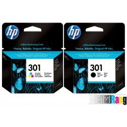 کارتریج جوهرافشان HP-301 مشکی و رنگی