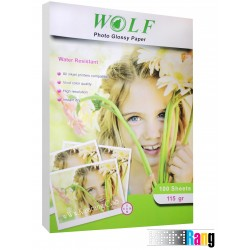 کاغذ فتوگلاسه Wolf سایز A4 وزن 115 گرم 100 برگ