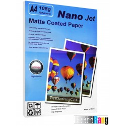 کاغذ کتد مات Nanojet سایز A4 وزن 108 گرم