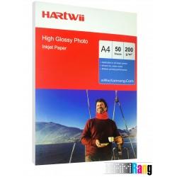کاغذ های فتوگلاسه هارتوی سایز A4 وزن 200 گرم 50 برگی
