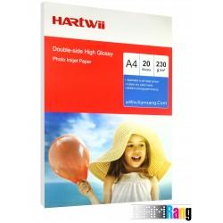 کاغذ فتوگلاسه هارتوی سایز A4 وزن 230 گرم 20 برگ دوطرفه