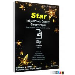 کاغذ فتوگلاسه Star سایز A3 وزن 120 گرم