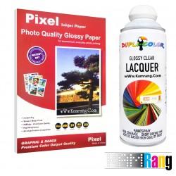 کاغذ فتوگلاسه Pixel سایز 10X15 وزن 250 گرم 20 برگ