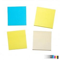 کاغذ یادداشت چسب دار چهار رنگ سایز 7.5x7.5