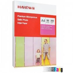 کاغذ ساتین هارتوی سایز A4 وزن 260 گرم 50 برگ