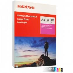 کاغذ لاستر هارتوی سایز A4 وزن 260 گرم 50 برگ