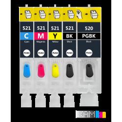 کارتریج قابل شارژ جوهرافشان کانن 520-521