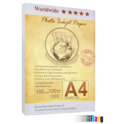 کاغذ سابلیمیشن دبلیو دبلیو سایز A4 وزن 100 گرم 100 برگ