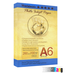 کاغذ فتو گلاسه دبلیو دبلیو سایز 4R وزن 260 گرم 100 برگ