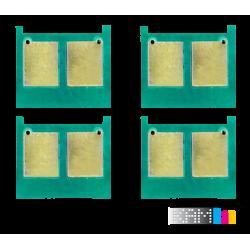 چیپ کارتریج لیزر رنگی اچ پی 504A سری کامل